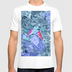 blue&birds White Mens Fitted Tee MEDIUM
