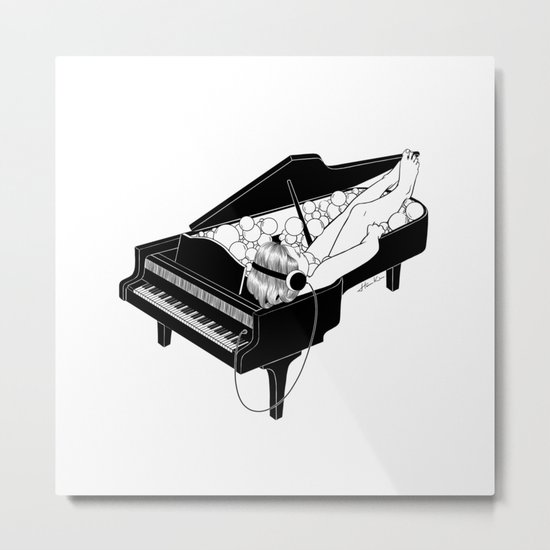 Turn on the music, Turn off your mind Metal Print