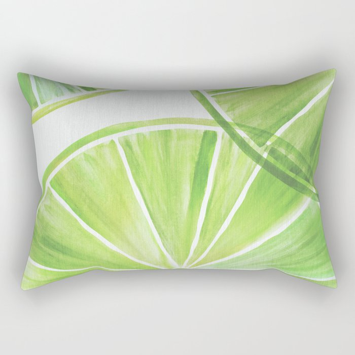 Fresh Lime ~ Summer Citrus Rectangular Pillow