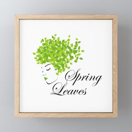 Mother nature with green leaves of spring as her hair- earth day Framed Mini Art Print