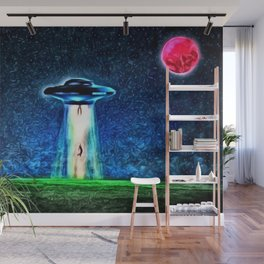 Area 51 Unidentified Flying Object Landscape Wall Mural