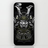 samurai iPhone & iPod Skins featuring Samurai by Brewer Arts