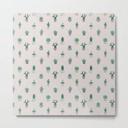 Prickly Pattern Metal Print