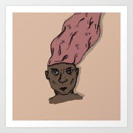All In My Head Art Print