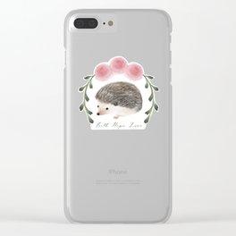 Faith, Hope, and Love Hedgehog Clear iPhone Case