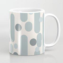 Effervescence - Mid Century Modern Minimalist Abstract Pattern in Light Blue-Gray and Cream Coffee Mug