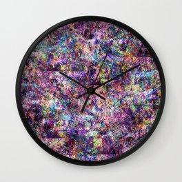 Neon Fauna Wall Clock