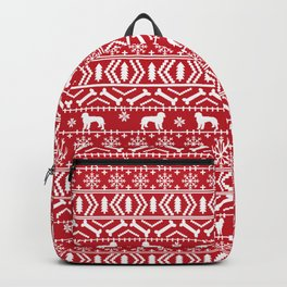 Golden Doodle fair isle christmas pet pattern minimal christmas sweater gifts Backpack