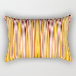 Orange strips pattern Rectangular Pillow