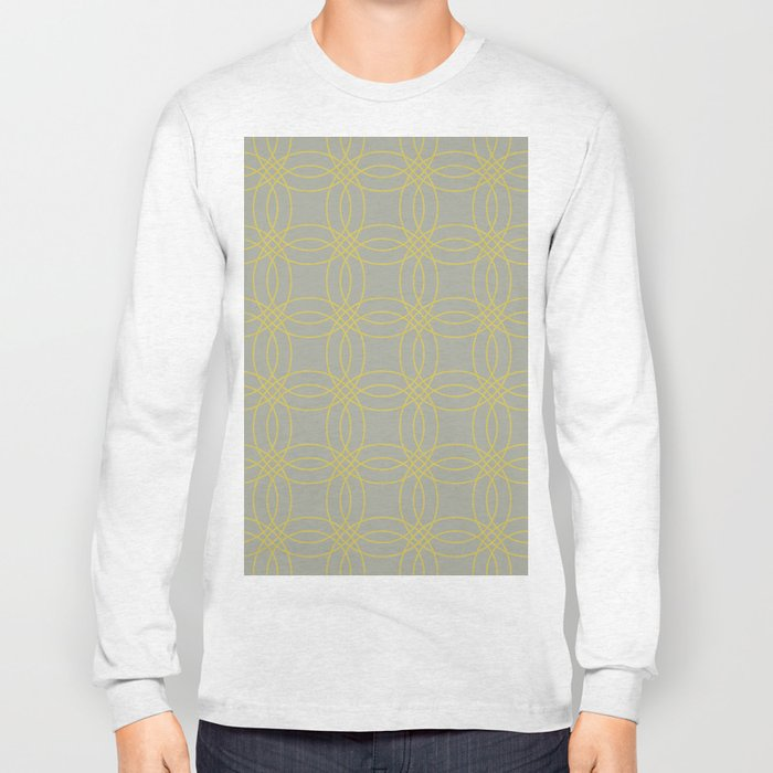 Simply Vintage Link in Mod Yellow on Retro Gray Long Sleeve T-shirt