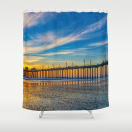 Textured Sand at Sunset Shower Curtain