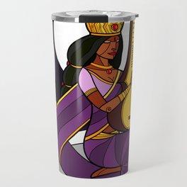 Saraswati - Goddess of Wisdom (alt) Travel Mug