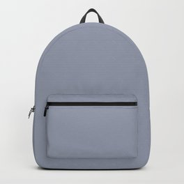 Ambrosial Pastel Purple Blue Grey Solid Color Pairs To Sherwin Williams Vesper Violet SW 6542 Backpack