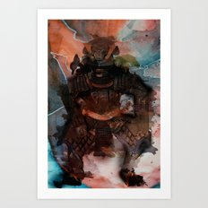 Samurai's Despair Art Print