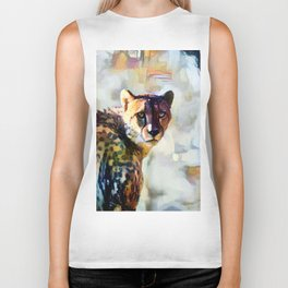 Your Cheetah Eyes Biker Tank