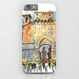 Gate of San Gimignano, Tuscany iPhone Case