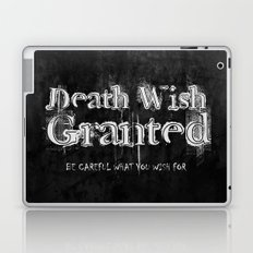 Death Wish Granted. Laptop & iPad Skin