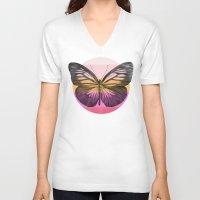 eric fan V-neck T-shirts featuring Flight - by Eric Fan and Garima Dhawan  by Eric Fan