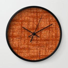Textured Tweed - Rust Orange Wall Clock