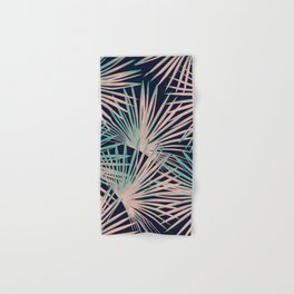 Tropical Fan Palm Leaves #5 #tropical #decor #art #society6 Hand & Bath Towel