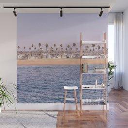Vintage Newport Beach Print {2 of 4} | Photography Ocean Palm Trees Magenta Tropical Summer Sky Wall Mural