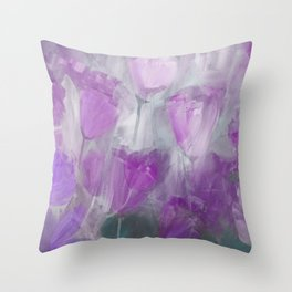Shades of Lilac Throw Pillow