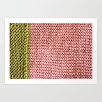 knit Art Prints featuring Knit by Melissa Jackson