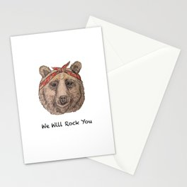 Bear WE WILL ROCK YOU Stationery Cards