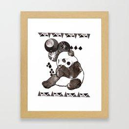 European Panda Framed Art Print
