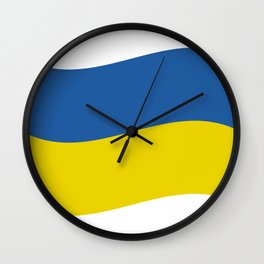 Ukrainian flag Wall Clock