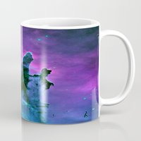 nebula Mugs featuring Nebula Purple Blue Pink by 2sweet4words Designs