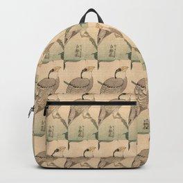 Hokusai,Hawfinch and mirabilis 2 - manga, japan,hokusai,japanese,北斎,ミュージシャン Backpack