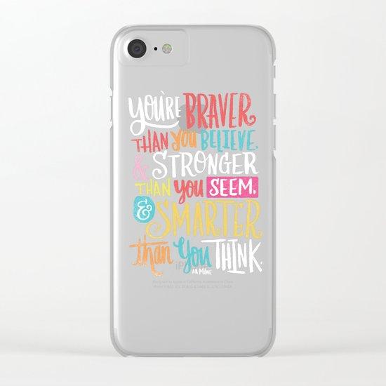 BRAVER, STRONGER, SMARTER Clear iPhone Case