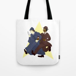 Data and Geordi as Sherlock and Watson Tote Bag