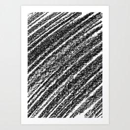 Crayon Scribble Art Print
