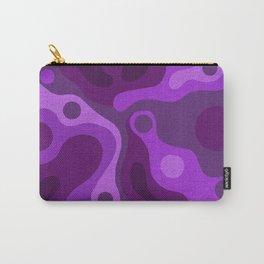 Purple Lava Shag Design Carry-All Pouch