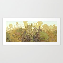 Mycelium Seep - alternative cover art Art Print