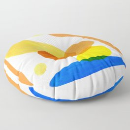 Abstract Organic Shapes Floor Pillow