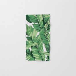 Tropical banana leaves V Hand & Bath Towel