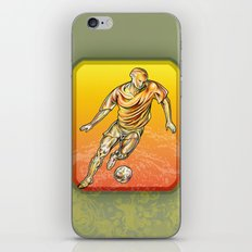 Soccer player iPhone Skin