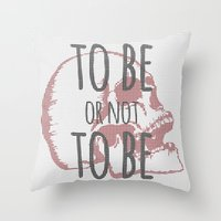hamlet Throw Pillows featuring Hamlet by Typo Negative