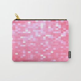 Bubblegum Pink Pixel Sparkle Carry-All Pouch