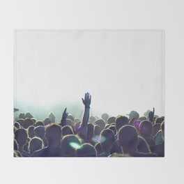 cncert crowd Throw Blanket
