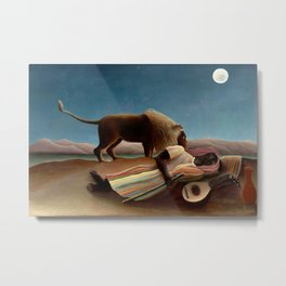 Henri Rousseau - The Sleeping Gipsy Metal Print