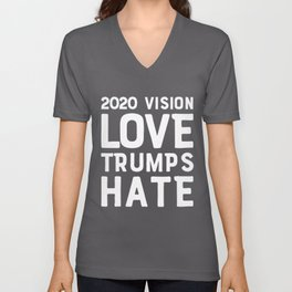 2020 Vision Election Love Trumps Hate President Elect Vote Premium design Unisex V-Neck