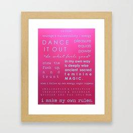The Rules Framed Art Print