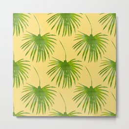 Exotic palm print Metal Print