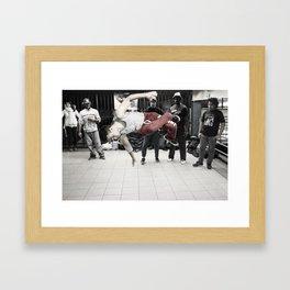 14th St & Union Sq (Jump) Framed Art Print