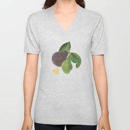 Avocado watercolour Unisex V-Neck