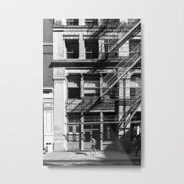 New York City, Soho Series, Black & White 4 Metal Print